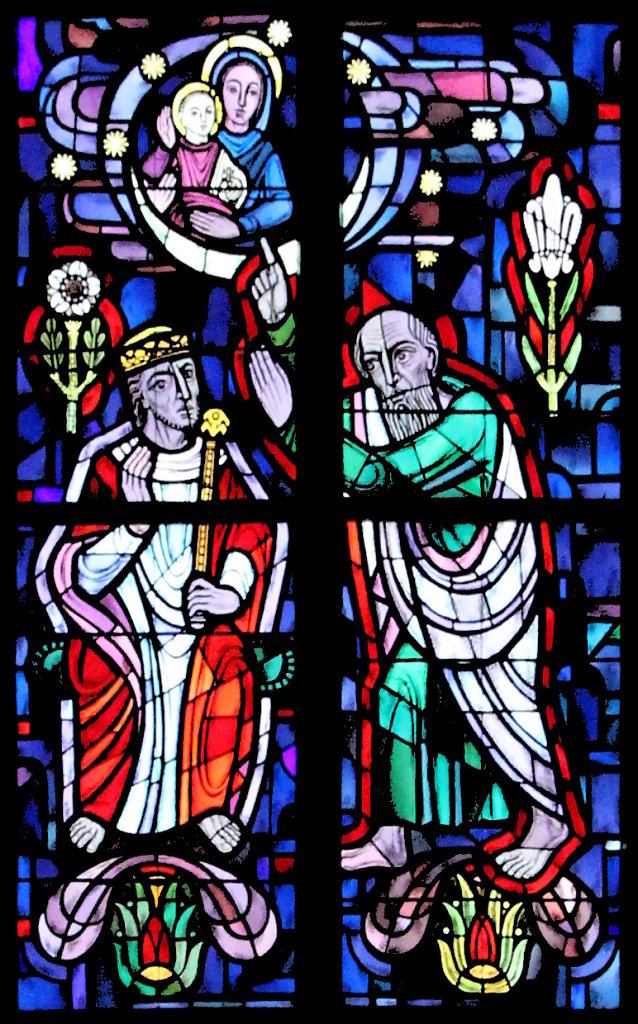 König David (linkes Chorfenster Mitte)