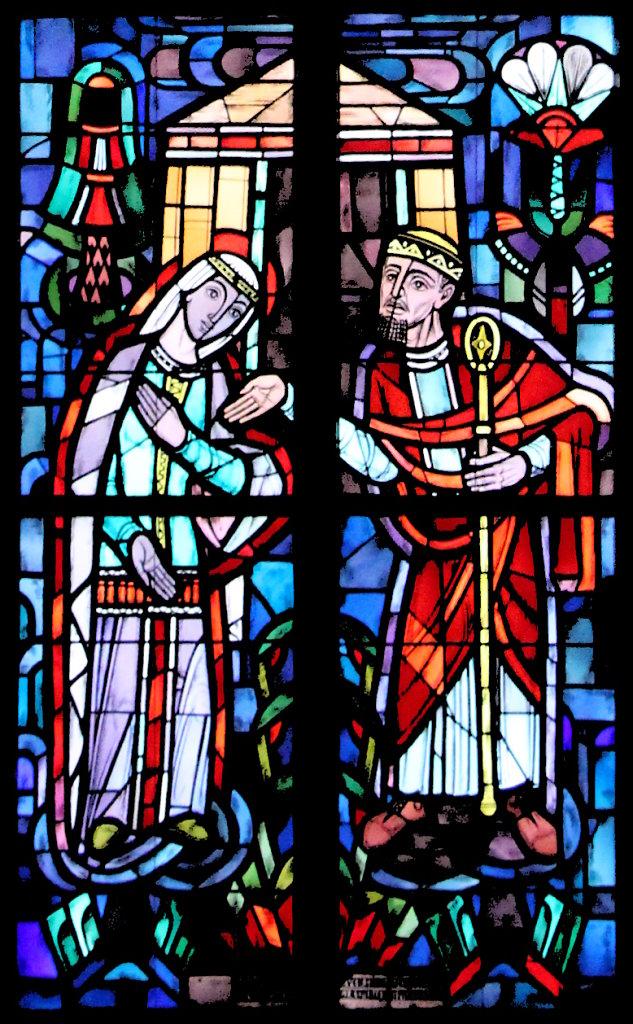 Esther und Artaxerxes (linkes Chorfenster unten)