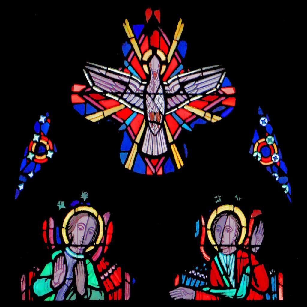 Taube (Vierpass mittleres Chorfenster)