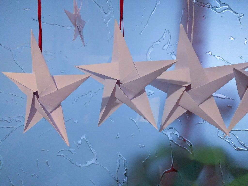 04: Weihnachten Origami 5-point star